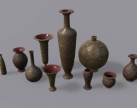 3D asset game-ready Vases PBR - Vol 1