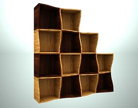 3D print model wooden modular shelving