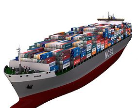 3D model Container Ship - 01