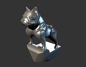 3D print model French bulldog figurine on the hood of a