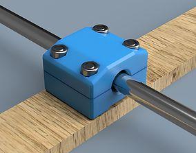 LM08UU linear bearing housing 3D print model