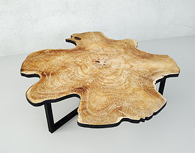chalet Organic Teak Root Table 3D