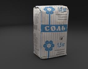 Scanned salt HIGH POLY 3D