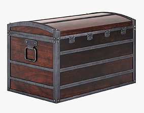 Wooden Chest 3D model VR / AR ready