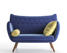 2 Seater Sofa seater 3D model