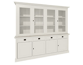 White cabinets 3D draws