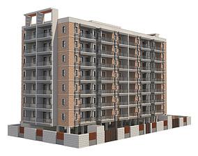 3D model Apartment Building 14