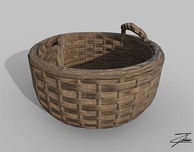 Wicker basket 1 3D asset