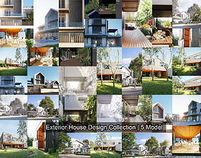 architecture 3D model Exterior House Design Collection