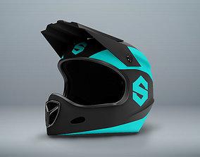 3D Model of Extreme Motor Fullface Helmet