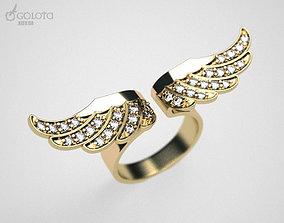 Wings ring 3D printable model