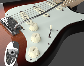 guitar Fender Stratocaster Electric Guitar - Elite 3D