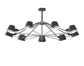 Chandelier Freya Abigail FR5038-CL-09 3D model