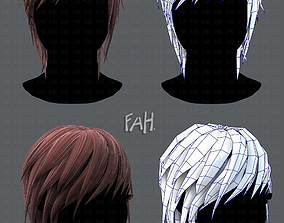 realtime 3D Hair style for Woman TypeB V01