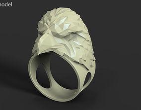 3D printable model organic Eagle vol3 polygonal ring