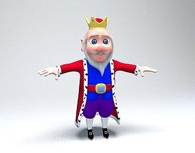 cartoon king 3D model