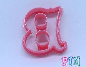 3D print model Vintage letter B cookie cutter hobby-diy