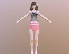Janet - Rigged Anime Character 3D model