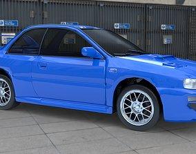 Subaru Impreza 22B STi 1998 3D model realtime