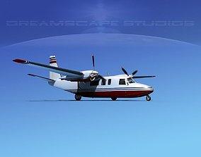 Rockwell Turbo Commander 690 V04 3D model