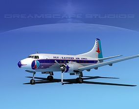 3D model Martin 202 Eastern Airlines 2