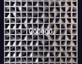 3D Cobogo geometrical panel 1