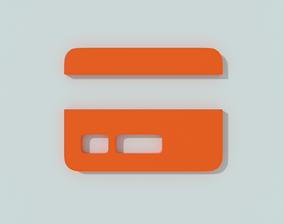 E-commerce 3d icon - Credit card PBR