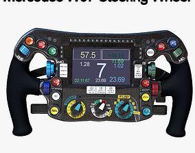 3D model W07 Steering Wheel