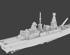 3D asset HSM Daring Type 45 destroyer