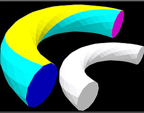 3D asset Twisted Torus Half
