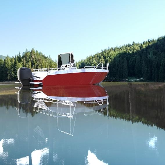 Aluminium boat 5.8 meters v1 version central console
