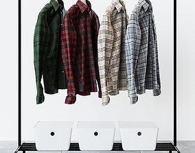 IKEA RIGGA Colored Shirts Set 3D model