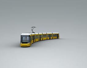 3D model Low Poly Tram 3
