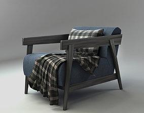 Armchair 3D model sofa furniture