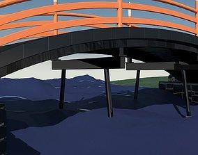 3D Small park bridge 3
