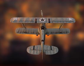 3D asset Biplane Avia B-534 with interiors