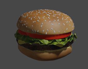 3D Realistic Hamburger