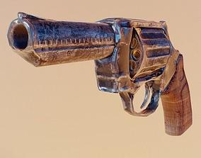 3D asset Revolver Weapon