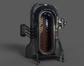 3D asset Sci-Fi Door 05