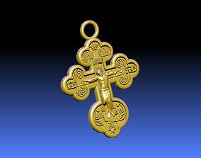 Cross ortodox 3D print model holy