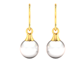 Women pearl earrings 3dm render detail