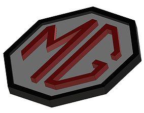 MG Logo Badge Plate 3D print model