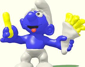 the Greedy Smurf 3D printable model