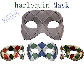 3d print Venetian Harlequin Mask Print-ready