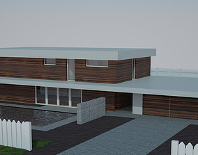 3D architecture Modern house