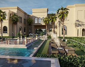 Big luxury backyard design sketchup model with lumion 1