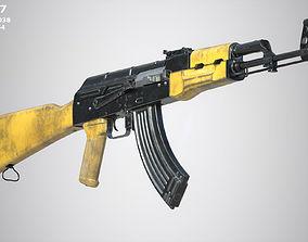 military 3D asset low-poly AK 47