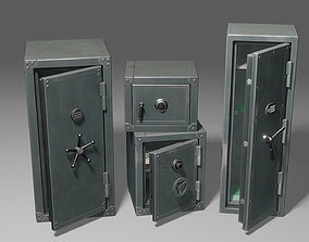 3D Metal Safes Pack Game-ready