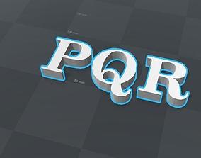 3D print model PQR letters alphabet