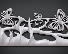 Butterfly Frame Ornament Furniture 3D print model